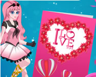 Cute cupid is preparing for Valentines day Hannah Montana HTML5 játék