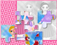 Puzzles so different princess Hannah Montana HTML5 játék