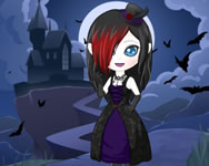 Vampire dress up Hannah Montana HTML5 játék